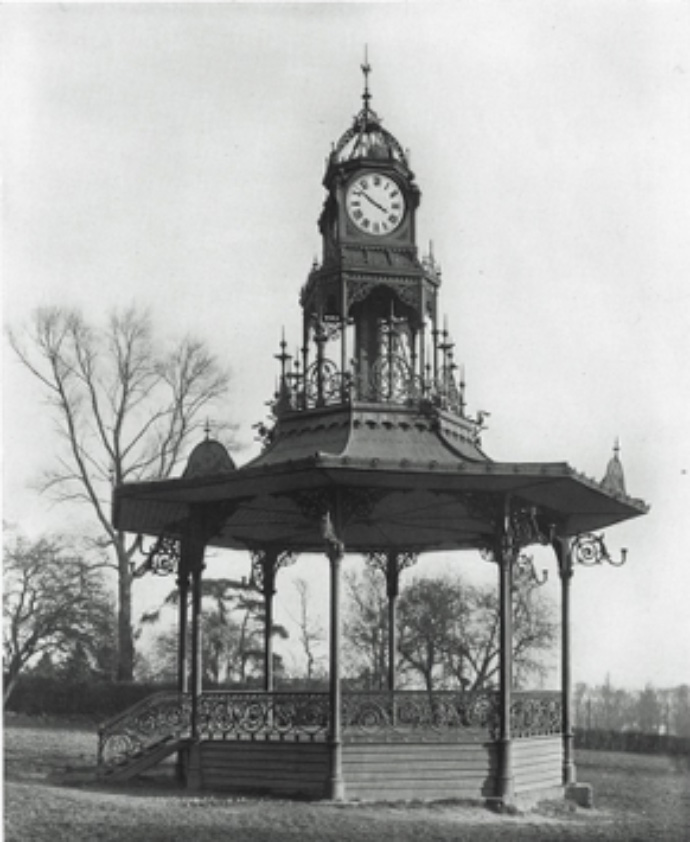 Chalkwell Park's lost bandstand, constructed by Walter MacFarlane's Saracen foundry ©Scottish Ironwork Foundation.