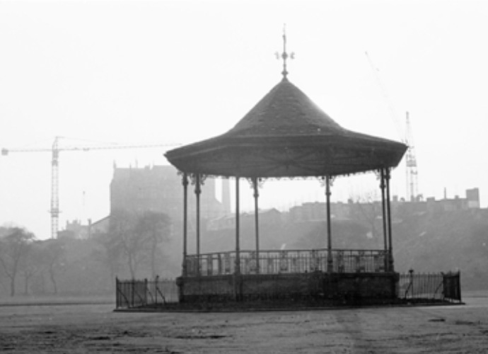 Peel Park's lost bandstand c1966. Photograph: Roger Shelley.
