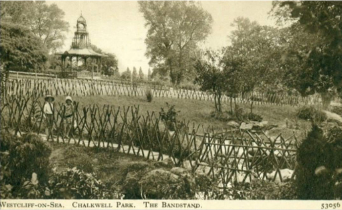 Postcard of Chalkwell Park provided by Clifford Leech.